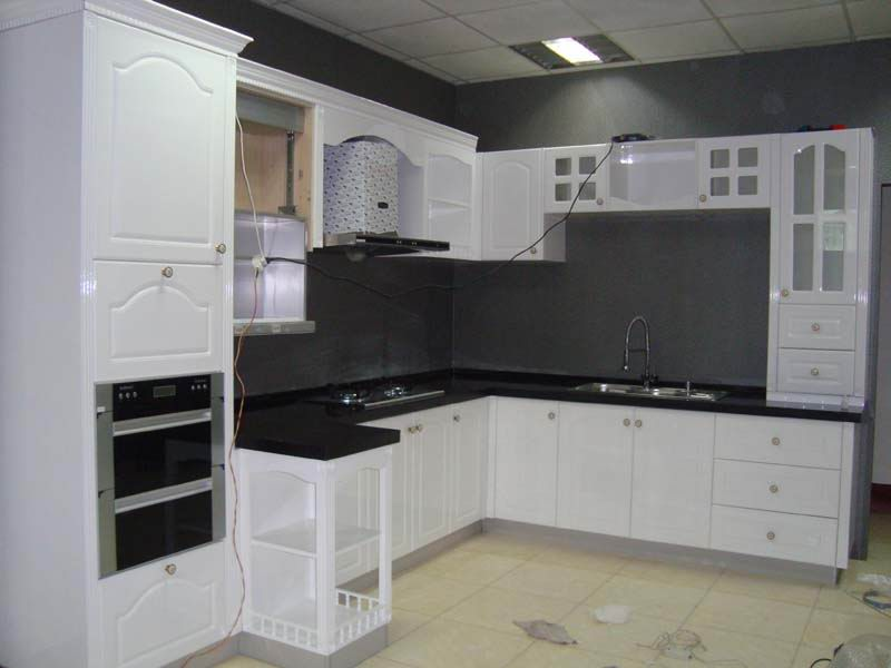 Baked Lacquered Kitchen Cabinets White Kitchen Cupboards ...