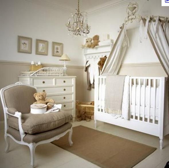 Beautiful Baby Rooms: » Beautiful Beige Baby Room Ideas Crystal Chandelier White