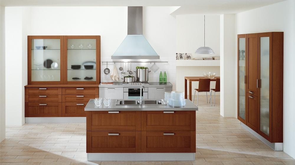 Extravagant Wooden Style Cabinets Italian Kitchen Design Ideas