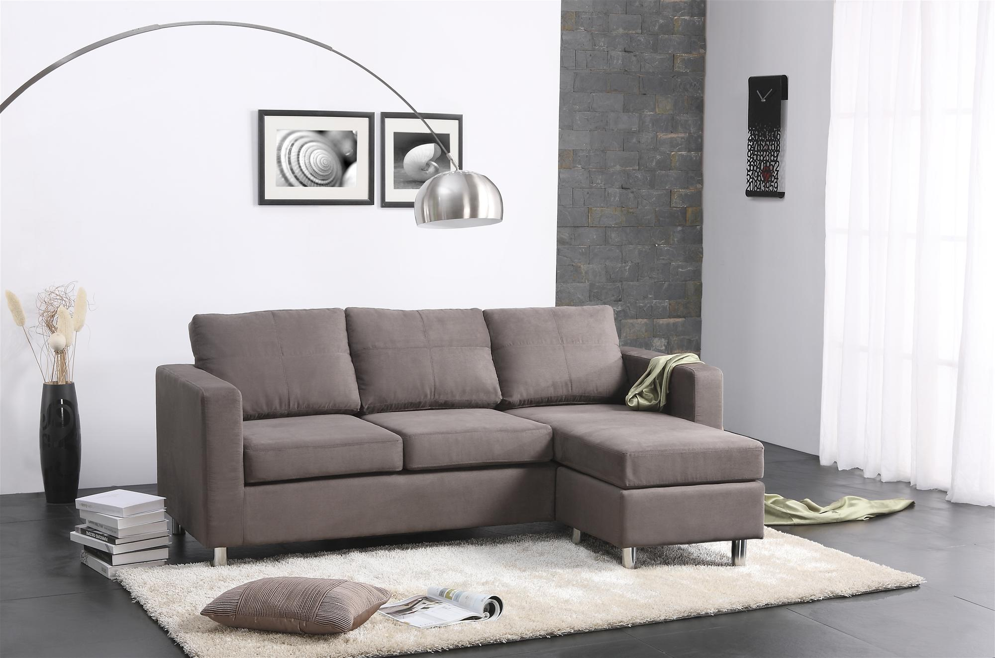 Awe Inspiring Fabulous Contemporary Gray Color Small Sectional Sofa Design Camellatalisay Diy Chair Ideas Camellatalisaycom