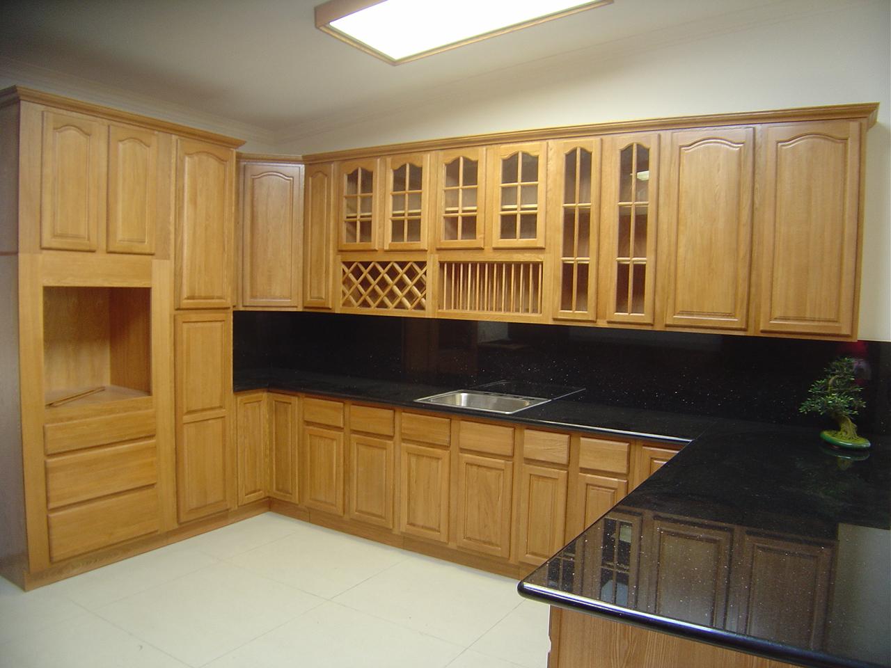 Fascinating Kitchen Design Natural Oak Kitchen Cabinet Ideas Black Marble Countertop Viahouse Com