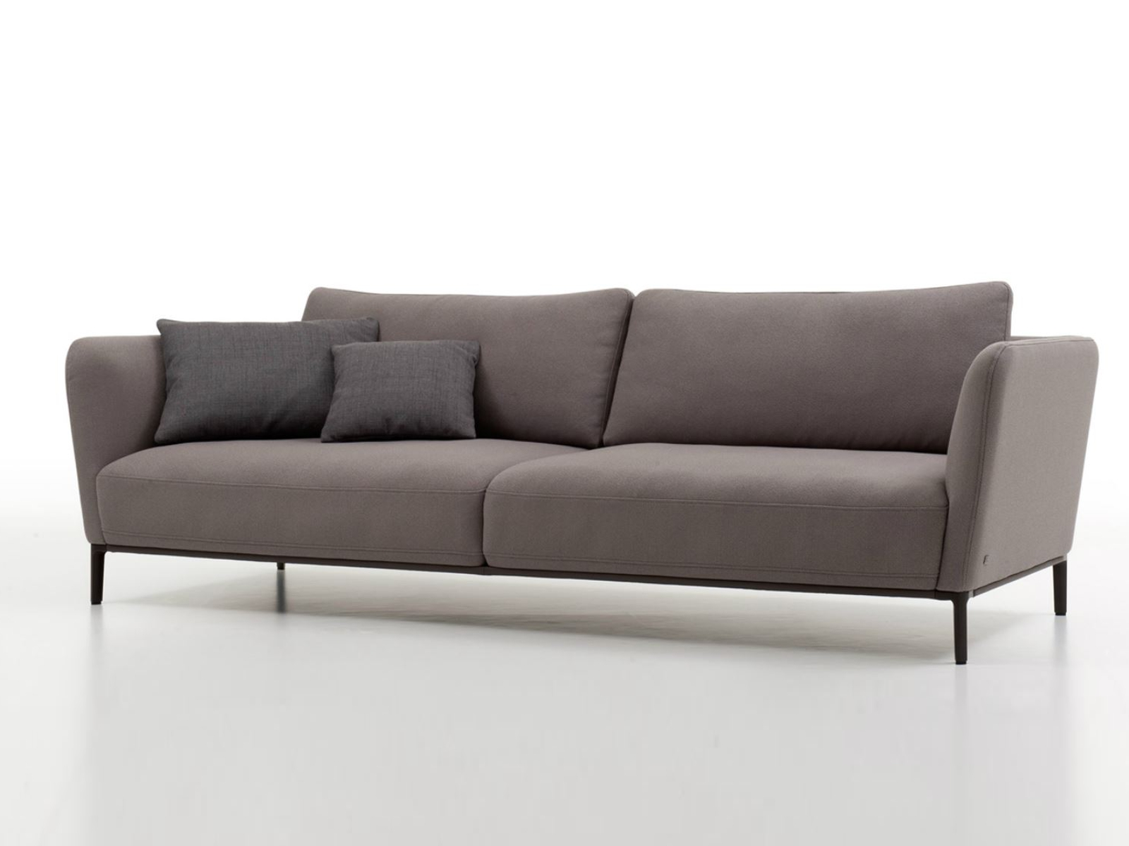 Minimalist Gray Cushion Modern Style Rolf Benz Sofa Design