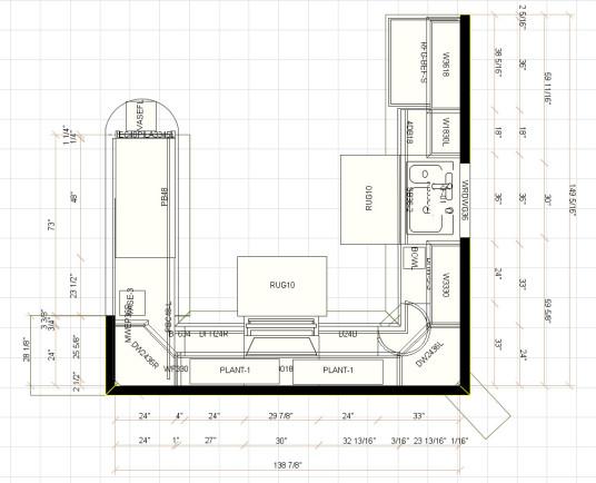 Rigid Kitchen Floor Plans Fr Modern Home With Corner Kitchen ...