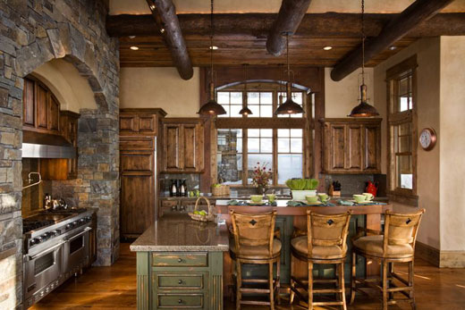 Rustic Italian Kitchen Design Wooden Accents Stone Decor Ideas