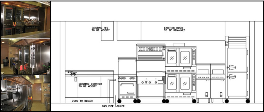 Small Commercial Kitchen Design Blue Print Floor Plan Layout Viahouse Com