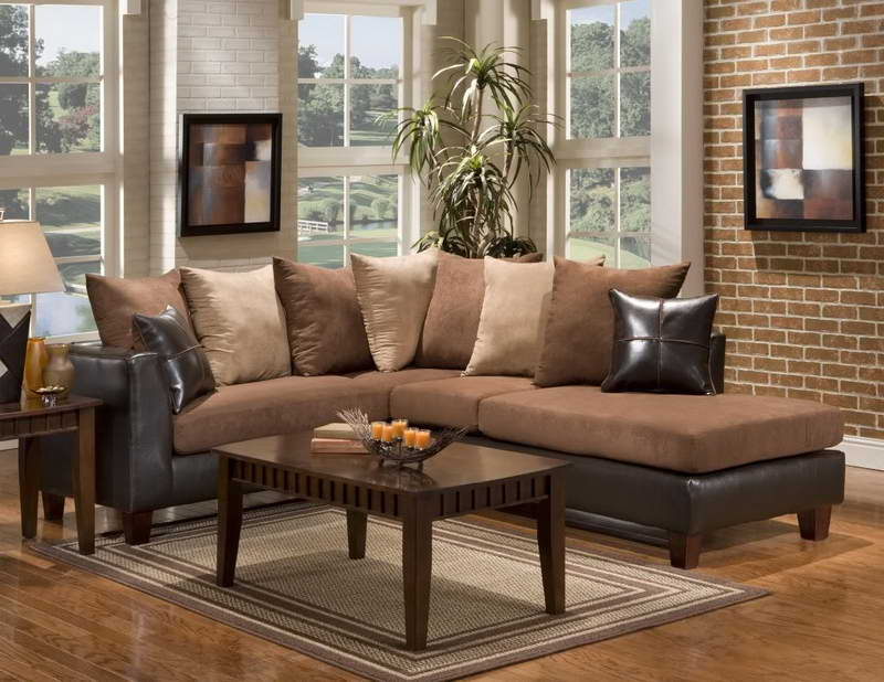 Small Sectional Sofa Brown Color