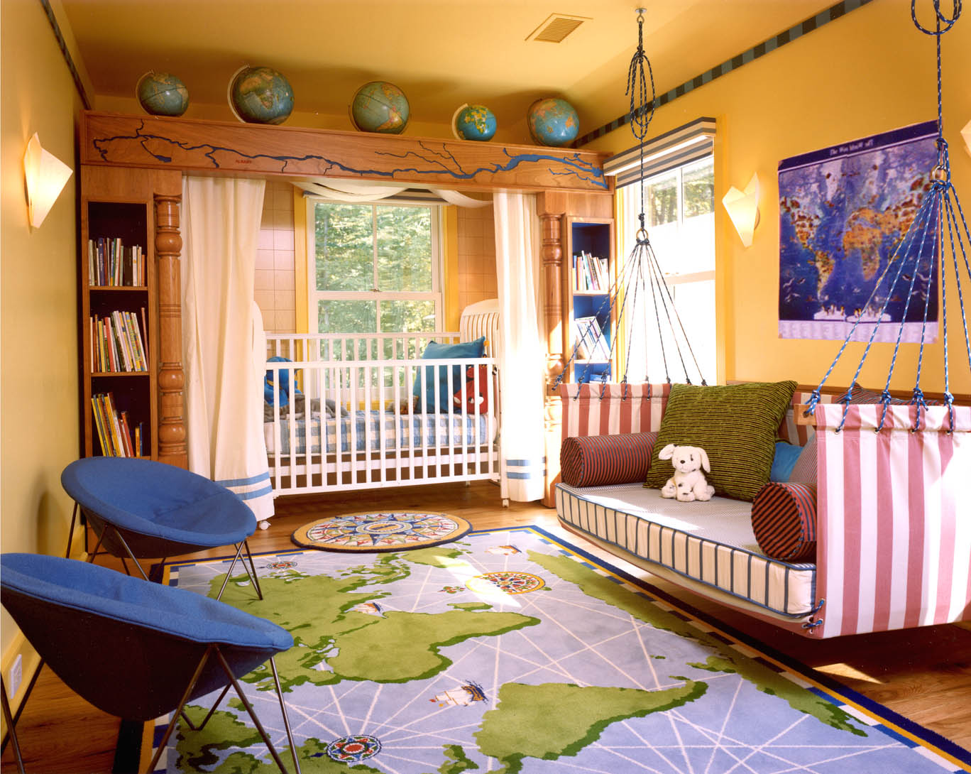 Stunning Kids Bedroom Ideas For Boys Hanging Bed