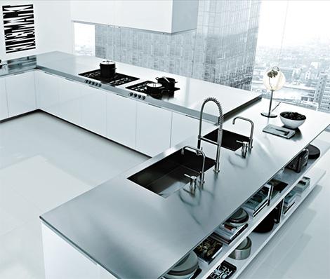 Stunning Modern Minimalist Italian Kitchen Design Overlooking City Viahouse Com