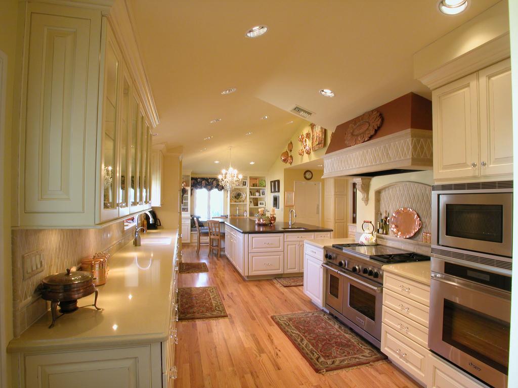 Stylish Kitchen Design White Kitchen Cabinet Ideas Wooden Floor