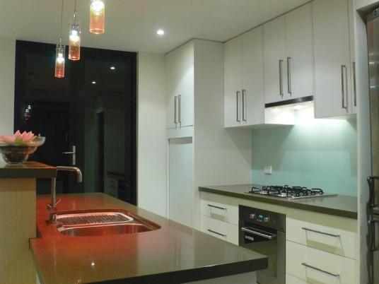 Wonderful Modern Style Kitchen Lighting Design Blue ...