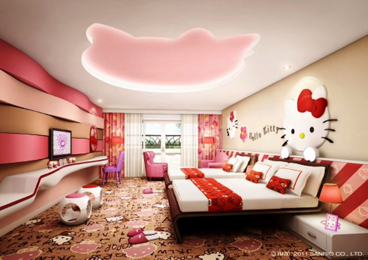 Modern Hello Kitty Kids Bedroom