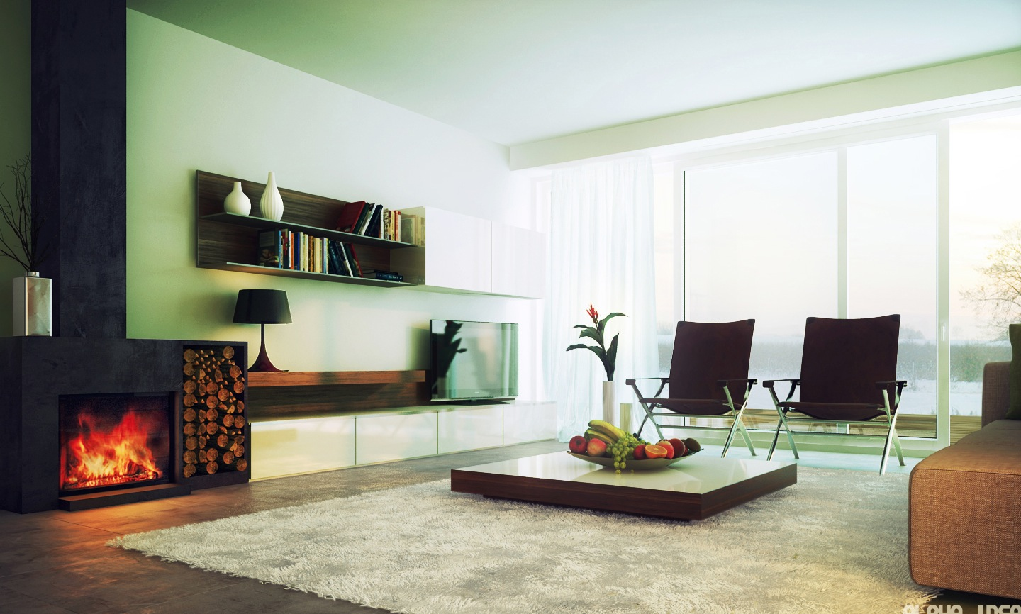 Ultramodern Clean Living Room Decoration