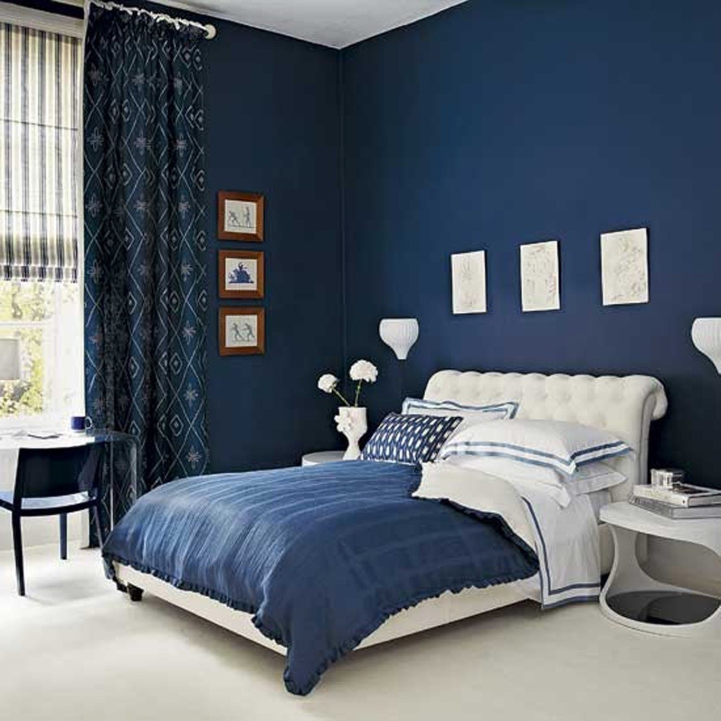Bedroom Decoration With Blue Wall Paint Viahouse Com