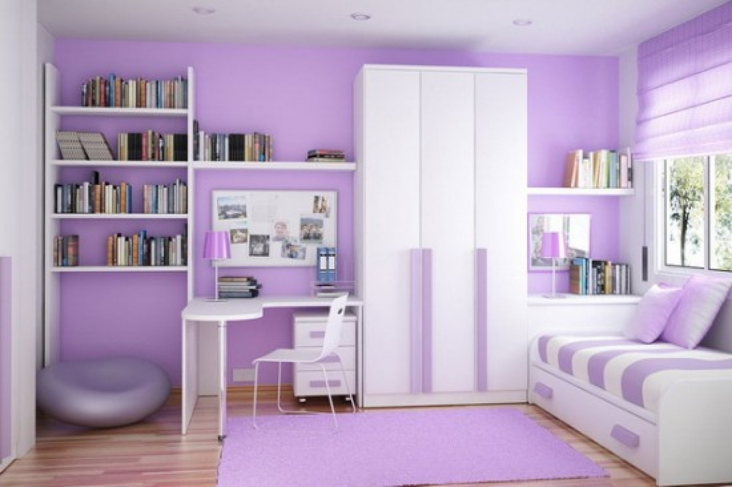 Purple Painting Ideas For Bedroom Walls