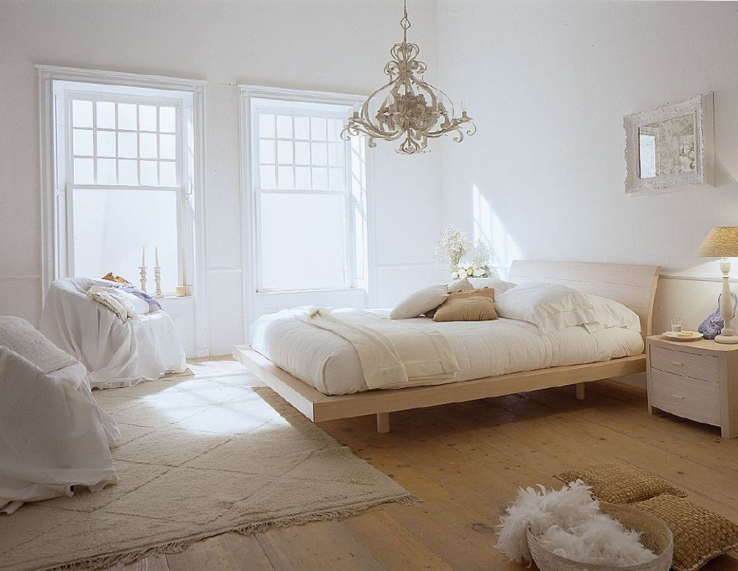 Rustic Bedroom Decoration Ideas with White Concept