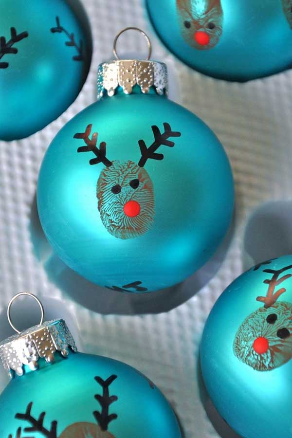 Christmas Crafts For Kids.Blue Ornament Christmas Crafts For Kids