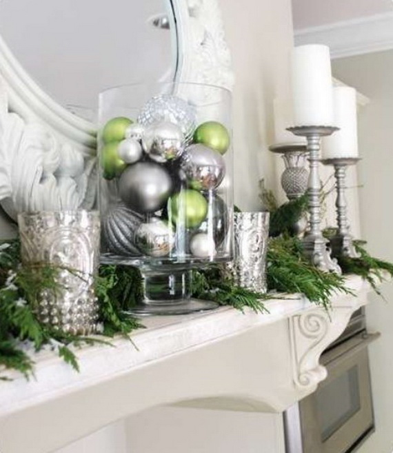 White And Green Christmas Decorating Ideas