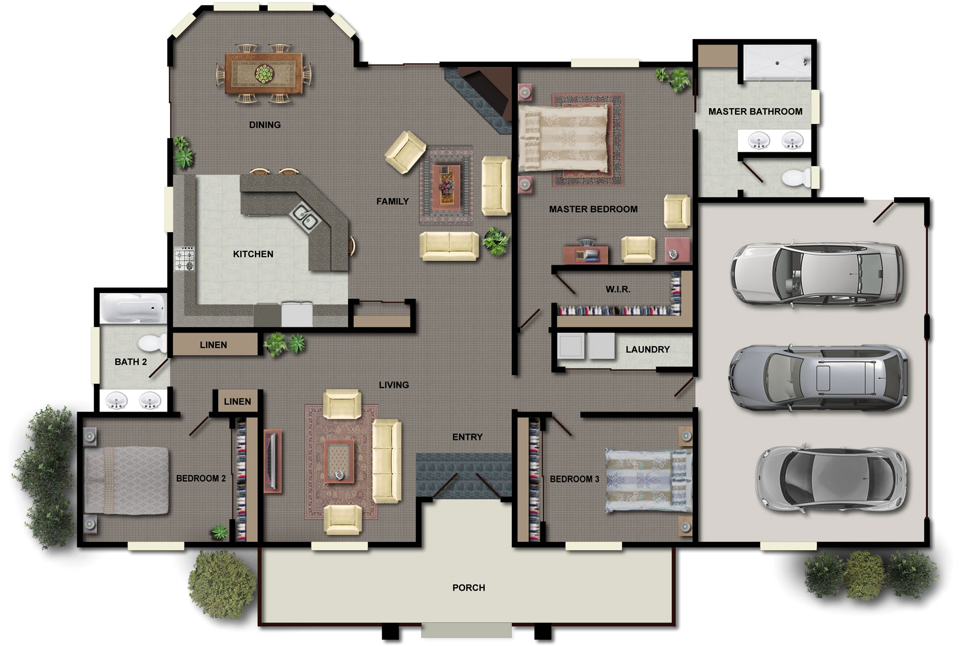 Wonderful New Home Plan Design Idea For New Family