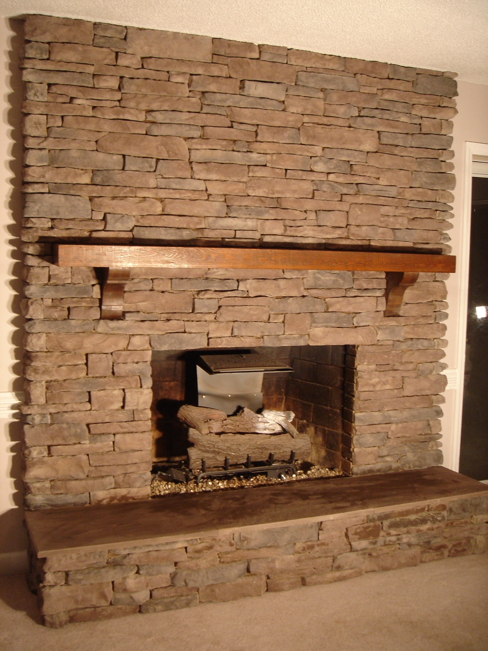Brick Fireplace Design With Old Style And System